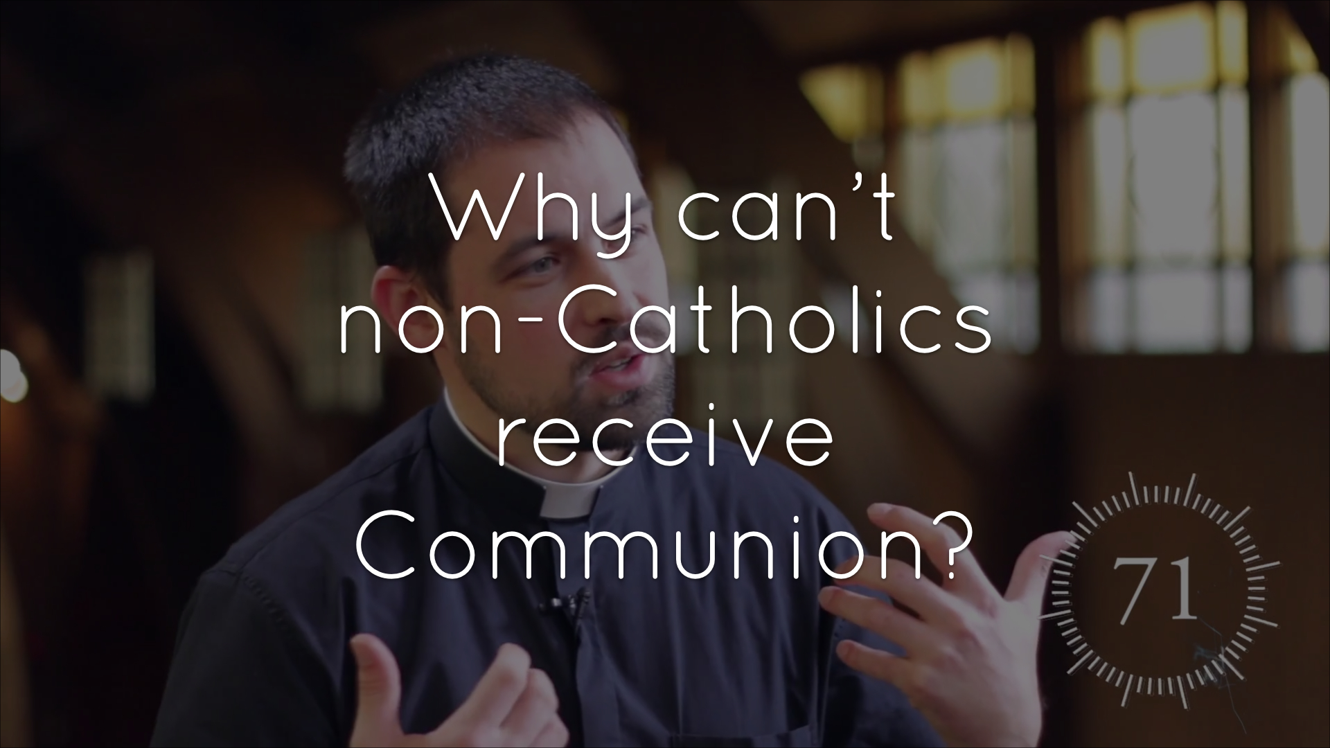 Why can't non-Catholics receive Communion?